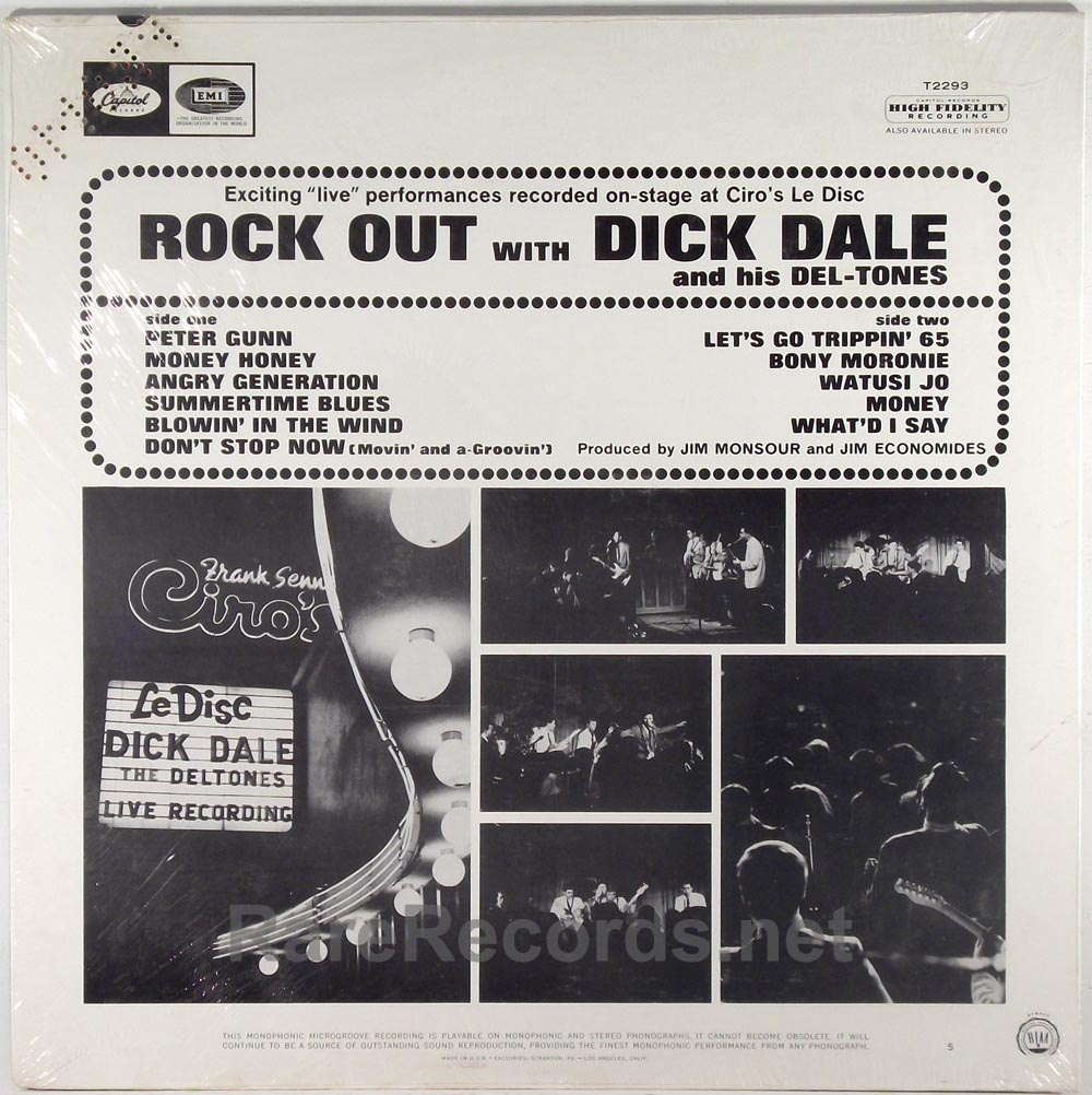 Dick Dale - Rock Out sealed 1965 mono promo LP