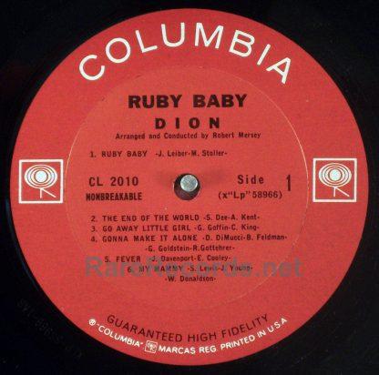 Dion - Ruby Baby original 1963 mono LP