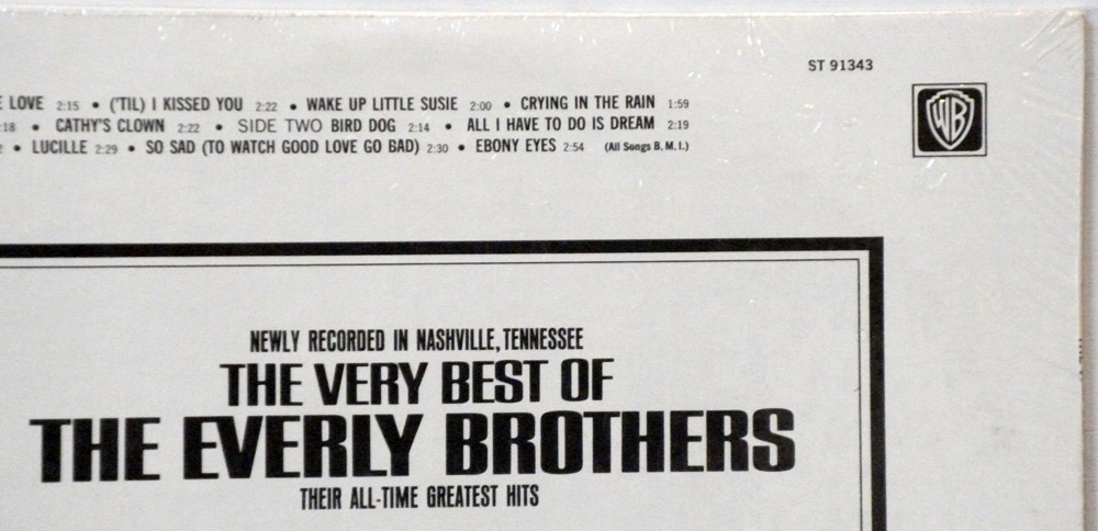 Everly Brothers - Very Best of the Everly Brothers sealed stereo record club issue