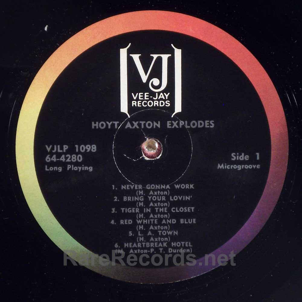 Hoyt Axton - Explodes!  1964 Vee Jay mono LP