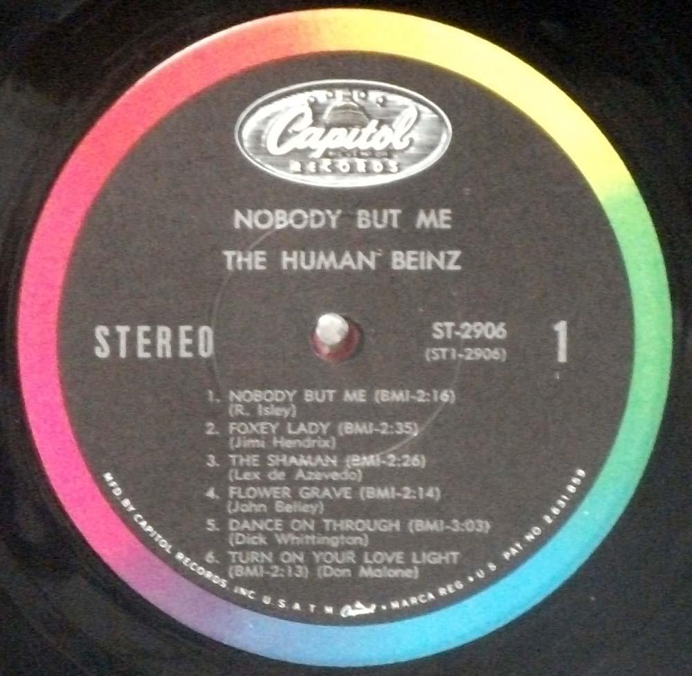 Human Beinz - Nobody But Me original 1968 Capitol stereo LP