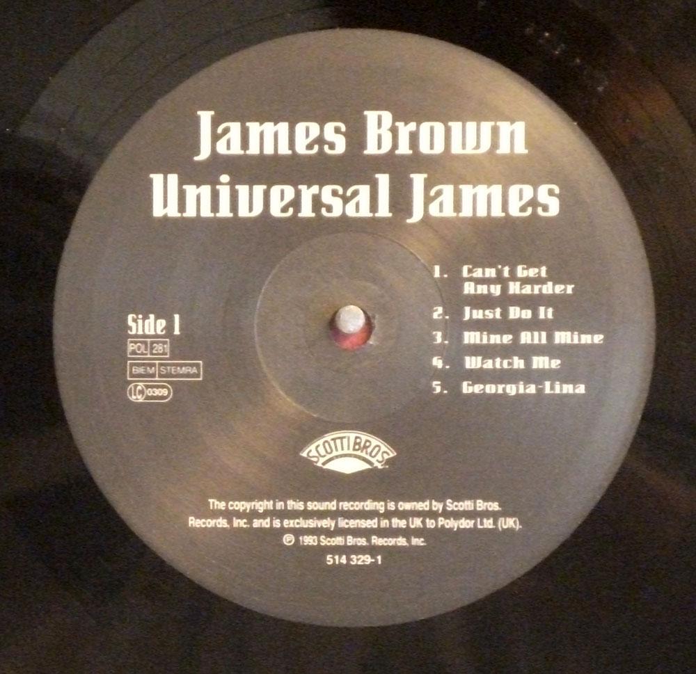 James Brown - Universal James scarce 1992 UK LP