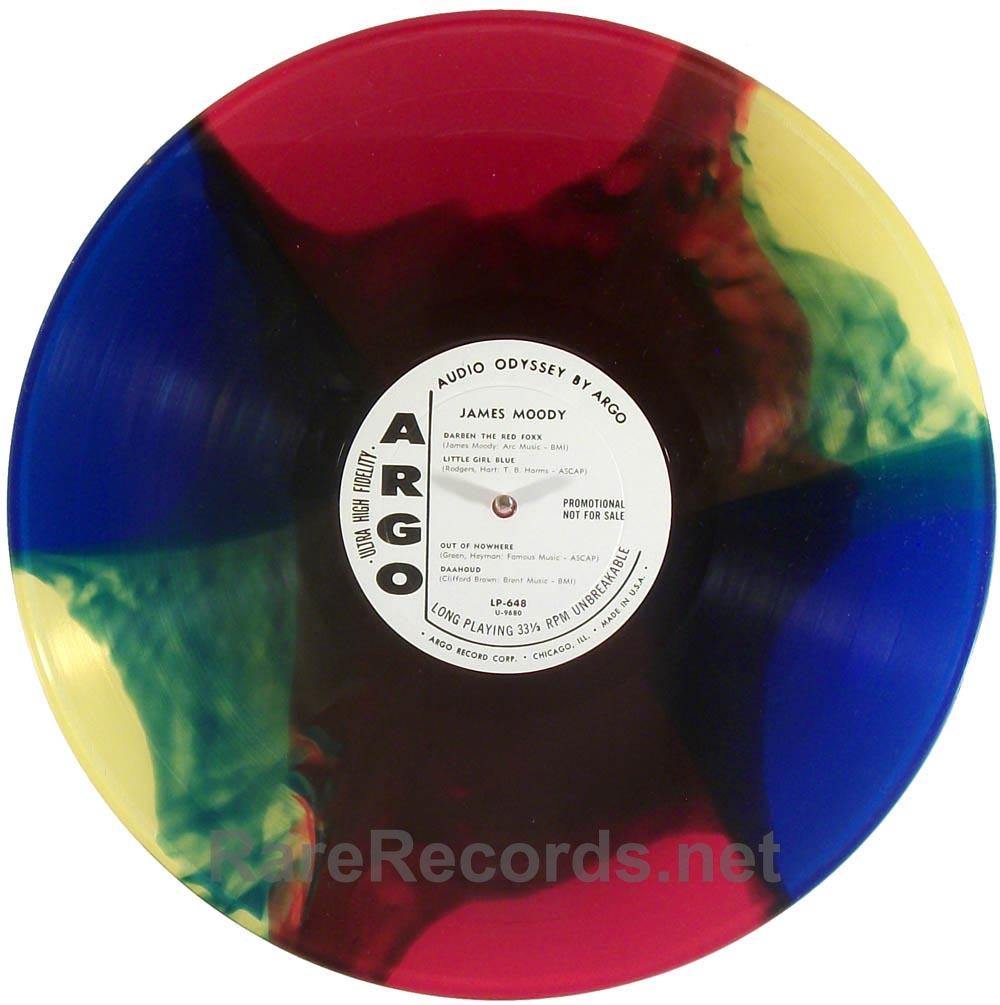 James Moody - 1959 Argo multicolor vinyl promo LP