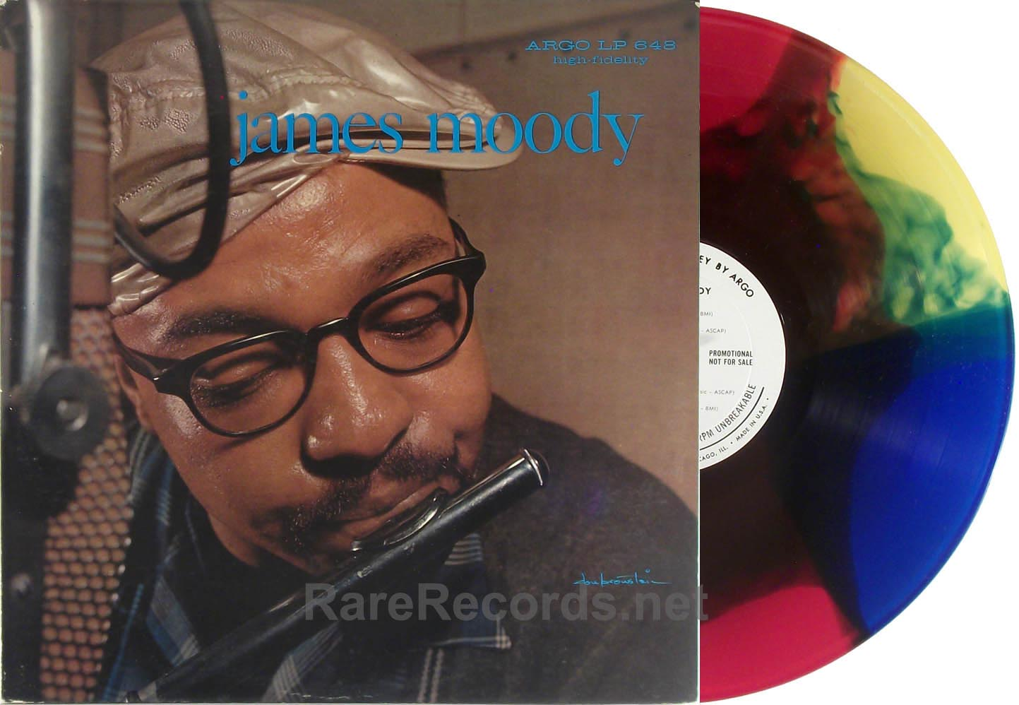 James Moody - 1959 Argo multicolor vinyl promo LP