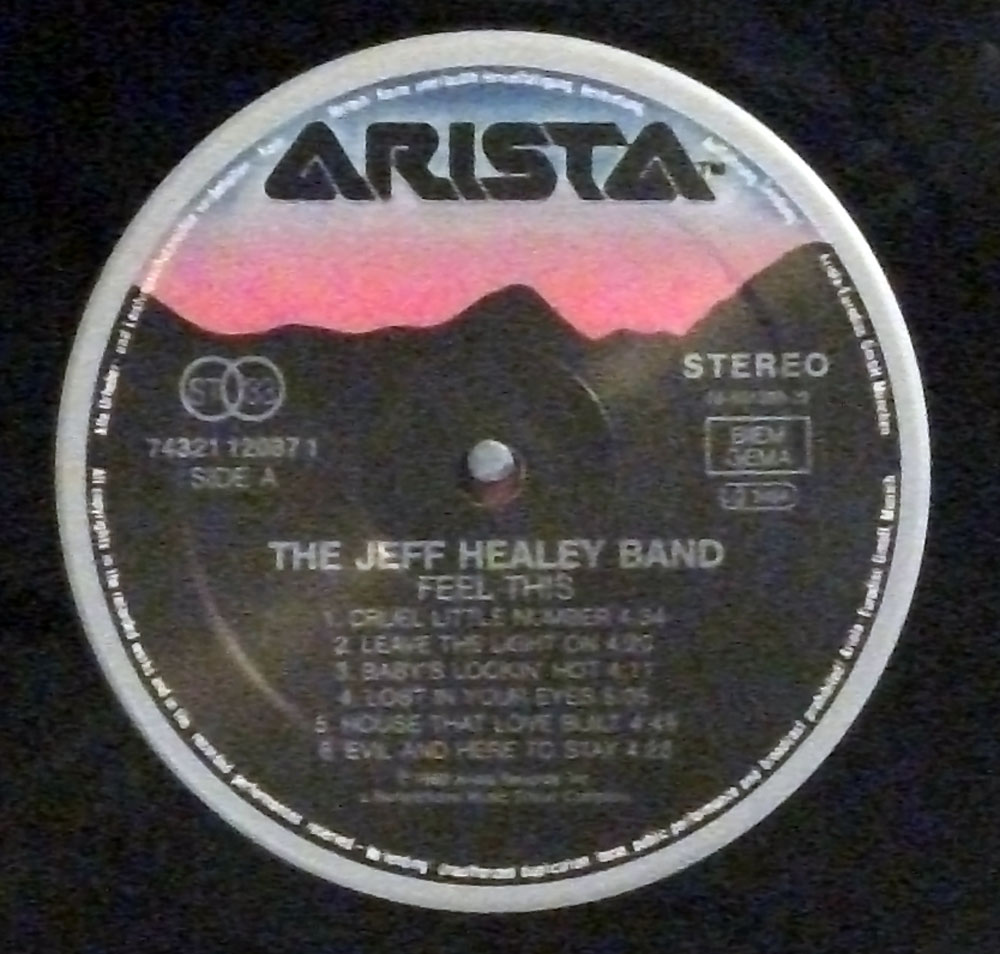 Jeff Healey - Feel This original 1992 Dutch LP