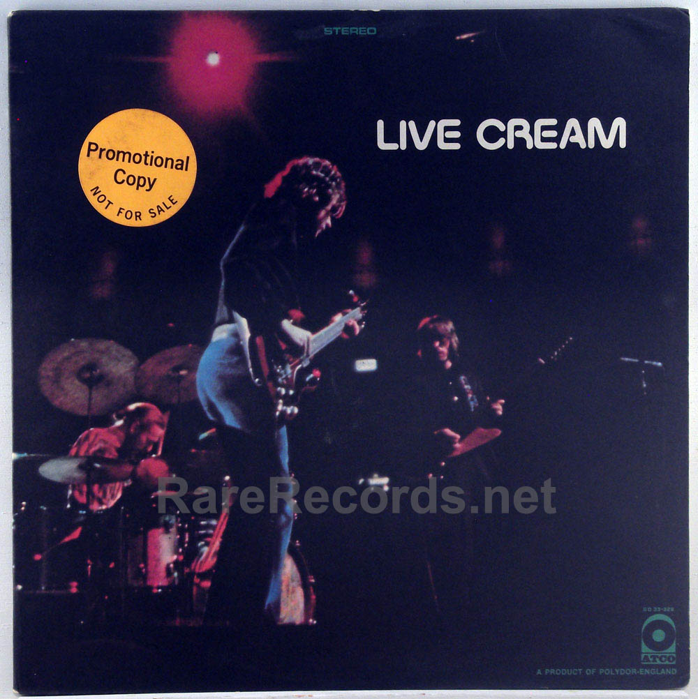 Cream - Live Cream original 1970 white label promo LP