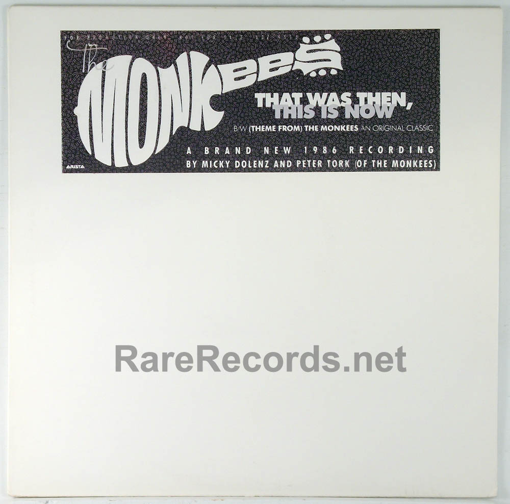 "Monkees - That Was Then, This is Now 1986 promotional 12"" single"