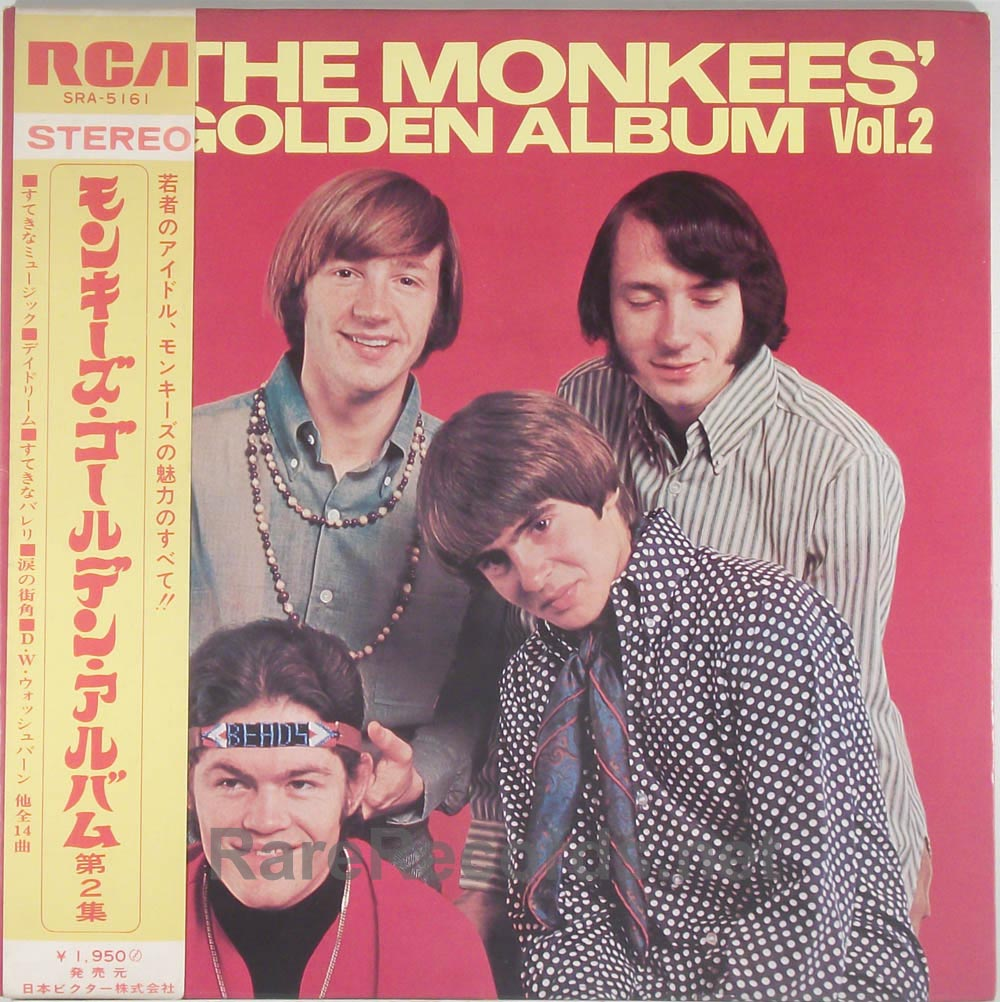 Monkees - Golden Album Vol. 2 rare Japan LP with obi