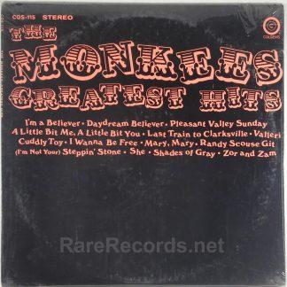 Monkees - Greatest Hits sealed 1969 Colgems LP