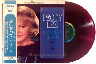 Peggy Lee - In the Name of Love red vinyl Japan LP with obi