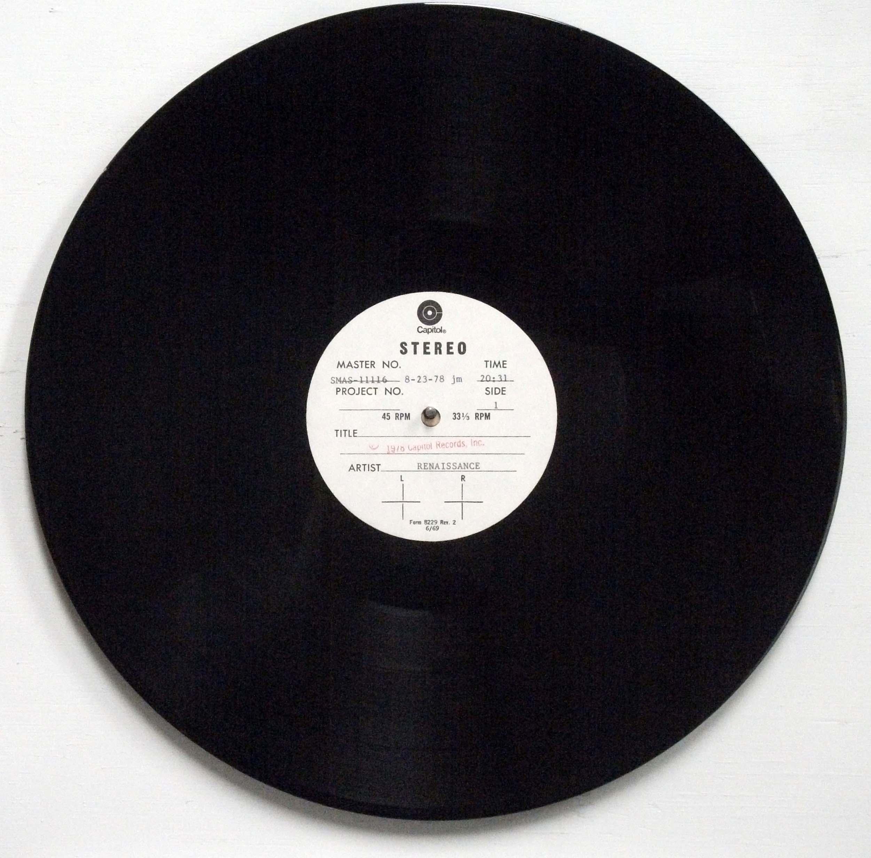 Renaissance – Prologue Capitol Records 1978 LP Acetate
