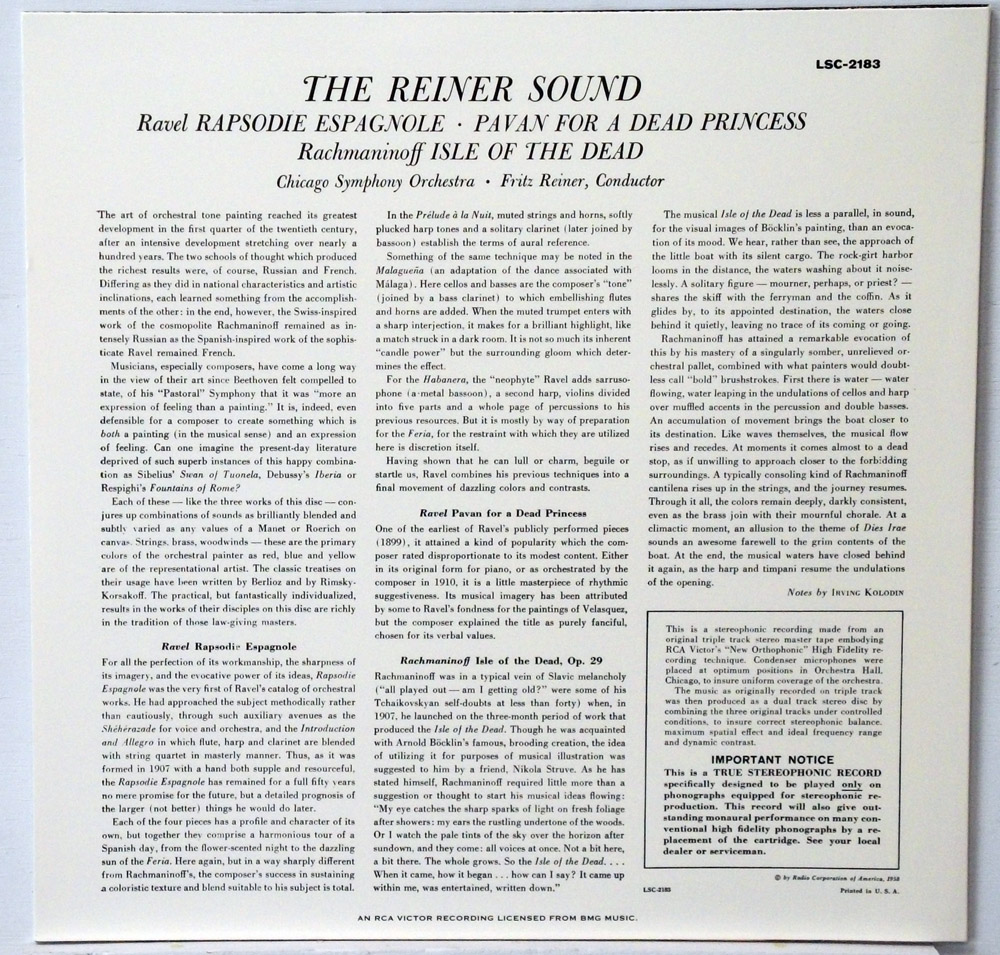 Reiner/CSO - The Reiner Sound Classic Records 5 LP 45 RPM set