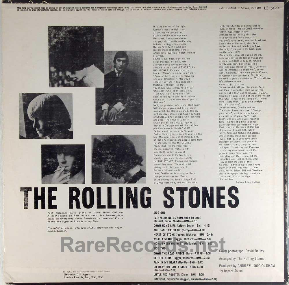 Rolling Stones - The Rolling Stones Now!  sealed MONO 1965 U.S. LP