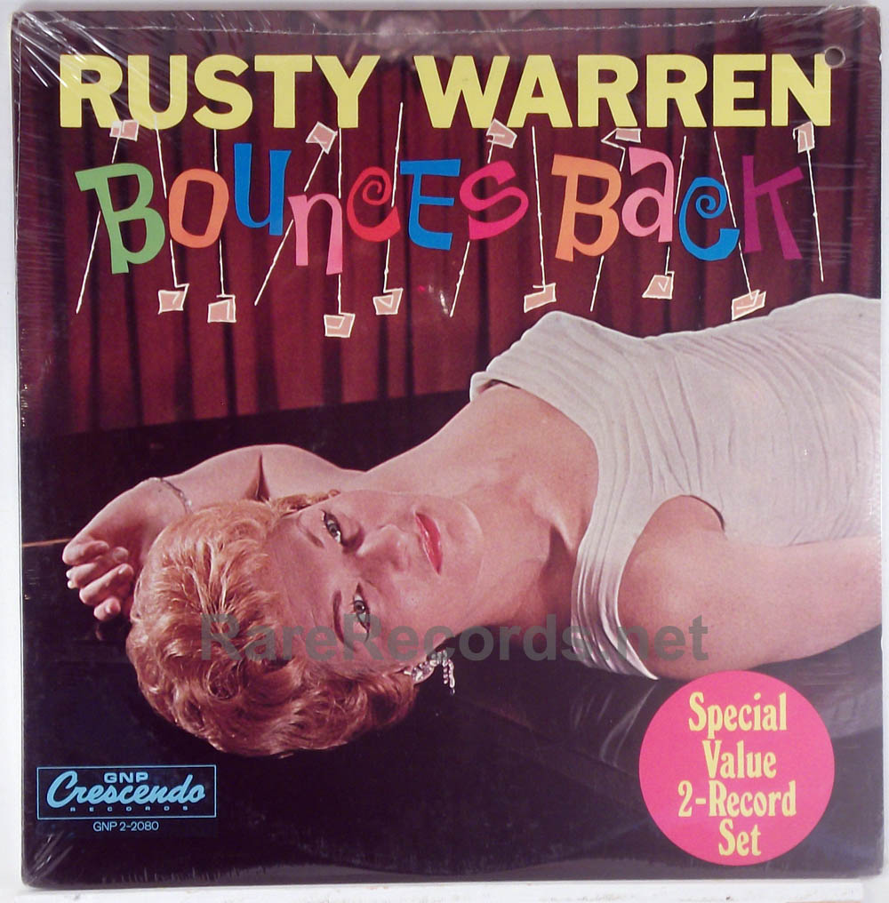 Rusty Warren - Bounces Back/Sin-Sational sealed 1973 2 LP set