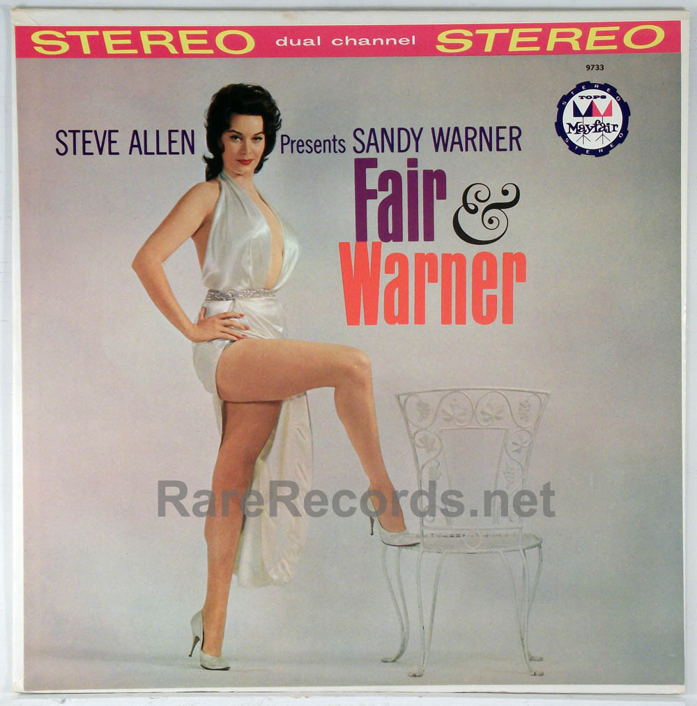 Sandy Warner - Fair and Warner rare 1961 colored vinyl stereo LP