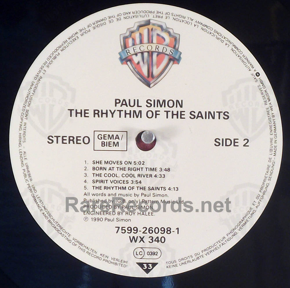 Paul Simon - Rhythm of the Saints 1990 German LP