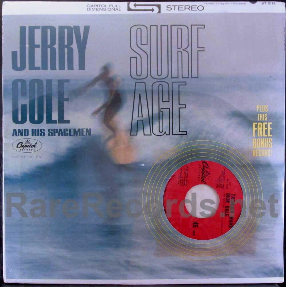 jerry cole - surf age LP with bonus single