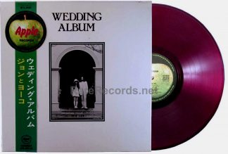 john & yoko - wedding album red vinyl japan LP