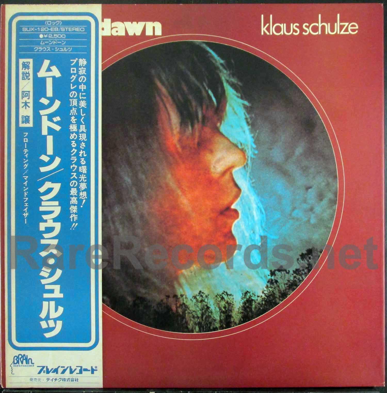 Tangerine Dream) Klaus Schulze – Moondawn Japan promo LP with obi