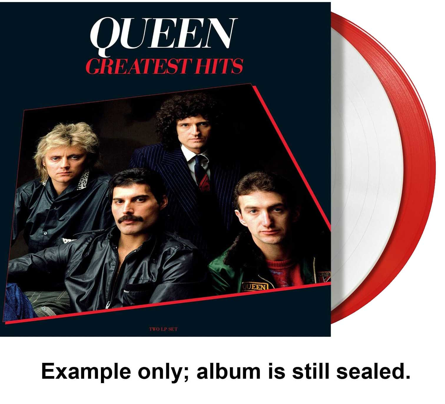 queen - greatest hits red/white vinyl u.s. lp