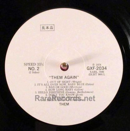 them - them again japan promo lp