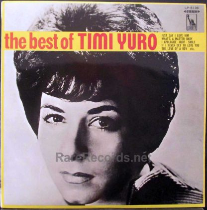 timi yuro- the best of timi yuro japan red vinyl lp