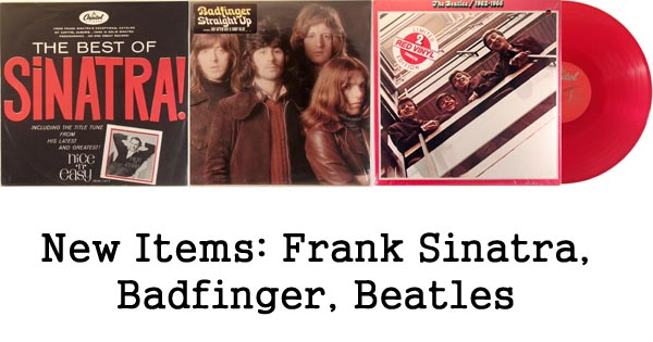 rare records frank sinatra, badfinger, beatles